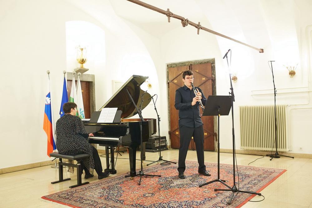 Benjamin Burger, klarinet, Tea Andrijić, klavir, Foto: Janez Kotar