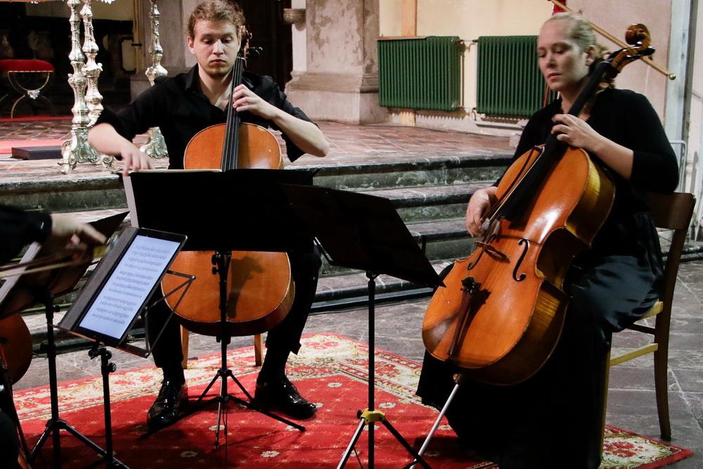 PROSTRANOST, 15.9.2020 - Kvartet violončel: Katarina Kozjek, Izak Hudnik (Foto: Goran Antlej)